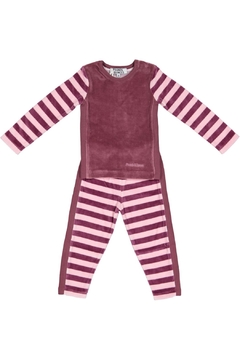 Shoptiques Product: Plum/pink Striped Pyjama