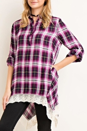 Entro Plum Plaid Tunic - Product Mini Image