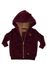 Rock Your Baby Plum Velvet Hoodie - Front cropped