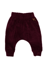 Rock Your Baby Plum Velvet Pants - Front cropped