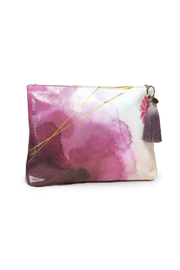 PAPAYA! Plum Watercolor Large Pouch - Front cropped
