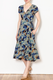 Plume and Thread Brushstroke Wrap Dress - Product Mini Image