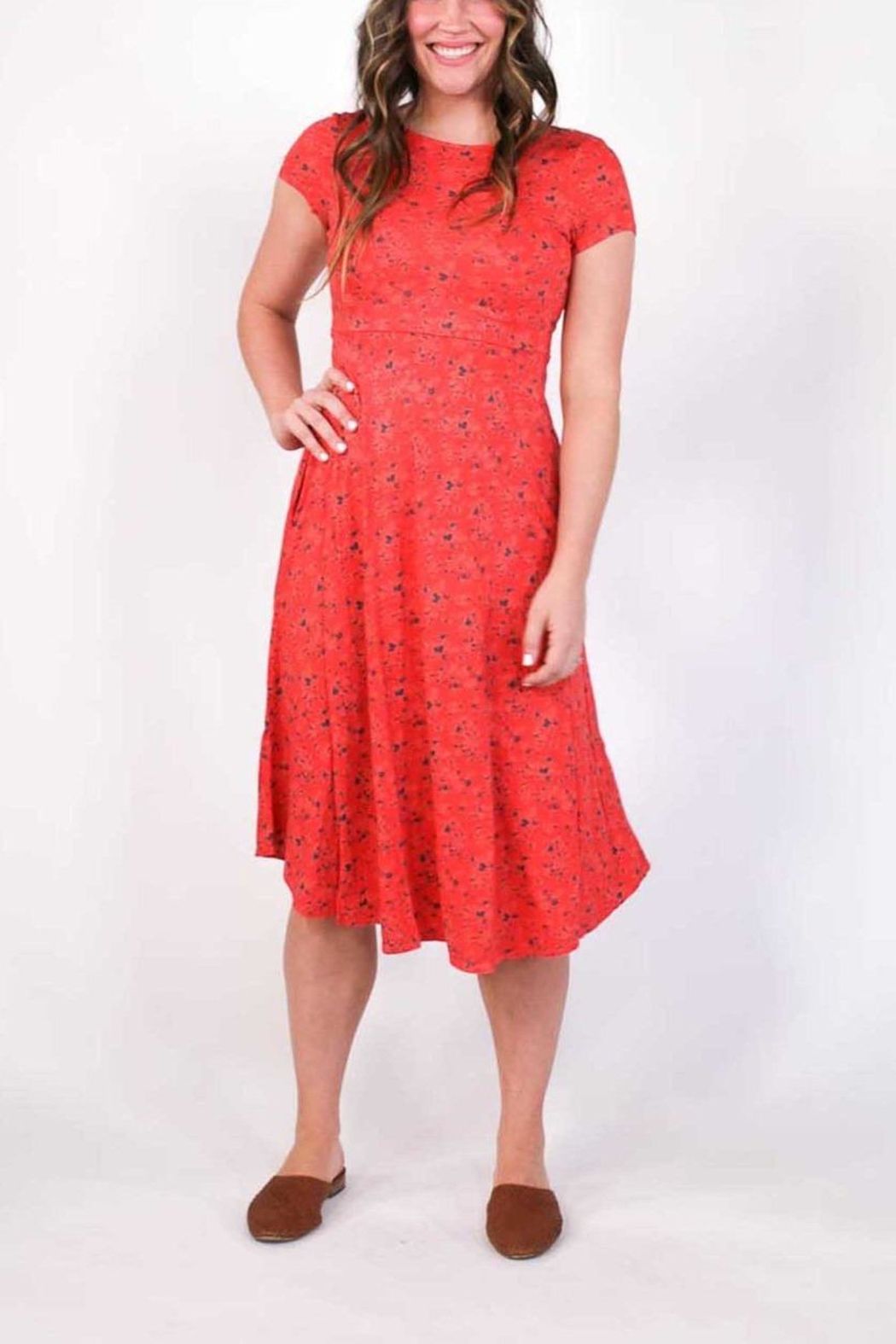 Plume and Thread Rory Floral Dress - Main Image