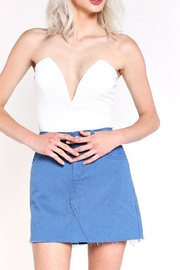 blue blush Plunge Bodysuit - Front cropped