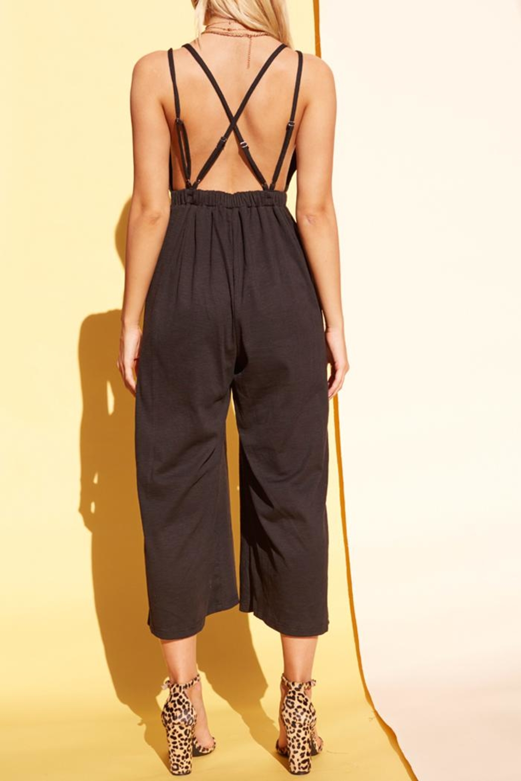 MPC Plunge Jumpsuit - Side Cropped Image