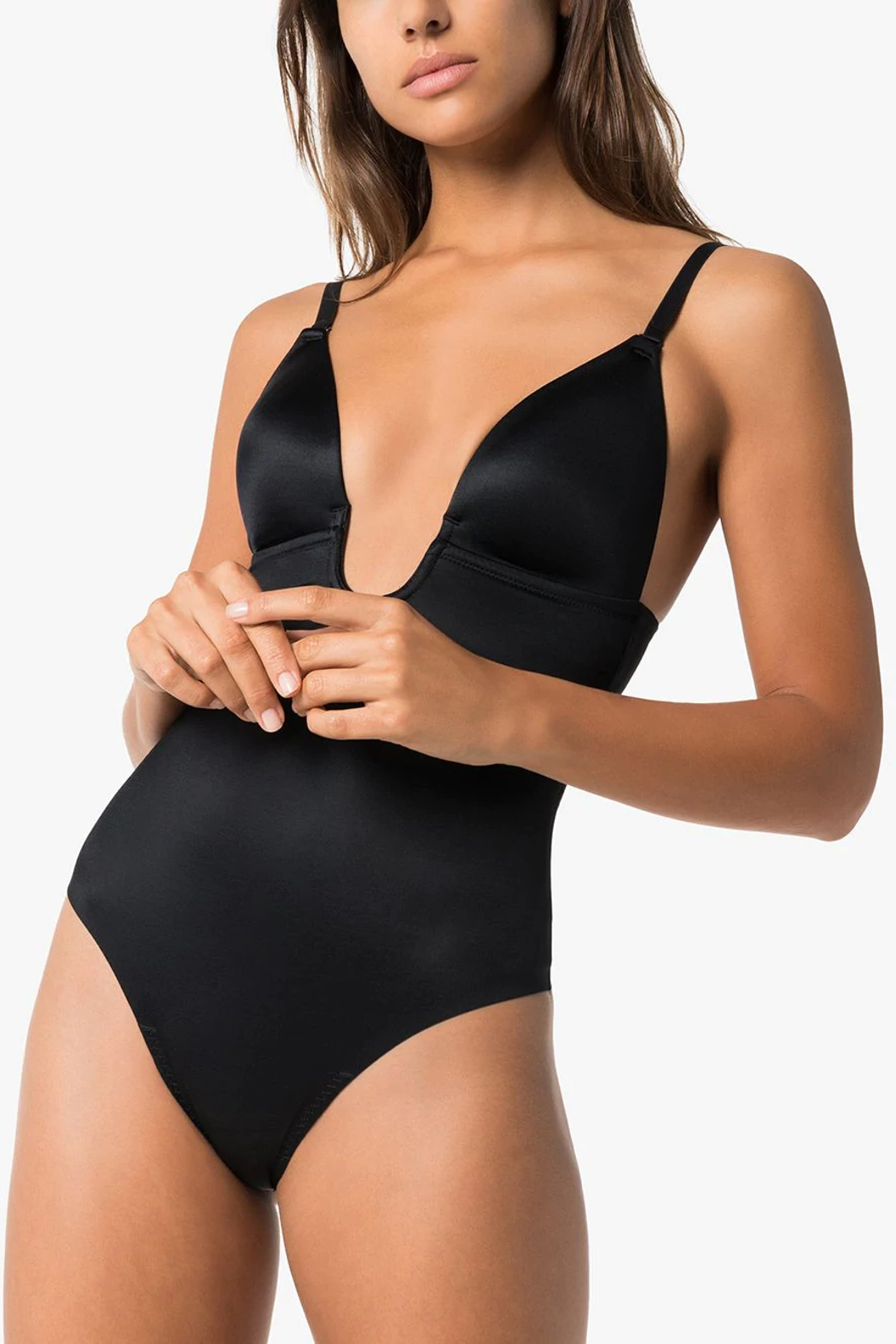Spanx Suit Your Fancy Shaping Bodysuit - Back Cropped Image