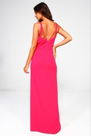 Minuet Plunge Neck Gown - Front full body