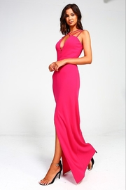 Minuet Plunge Neck Gown - Front cropped