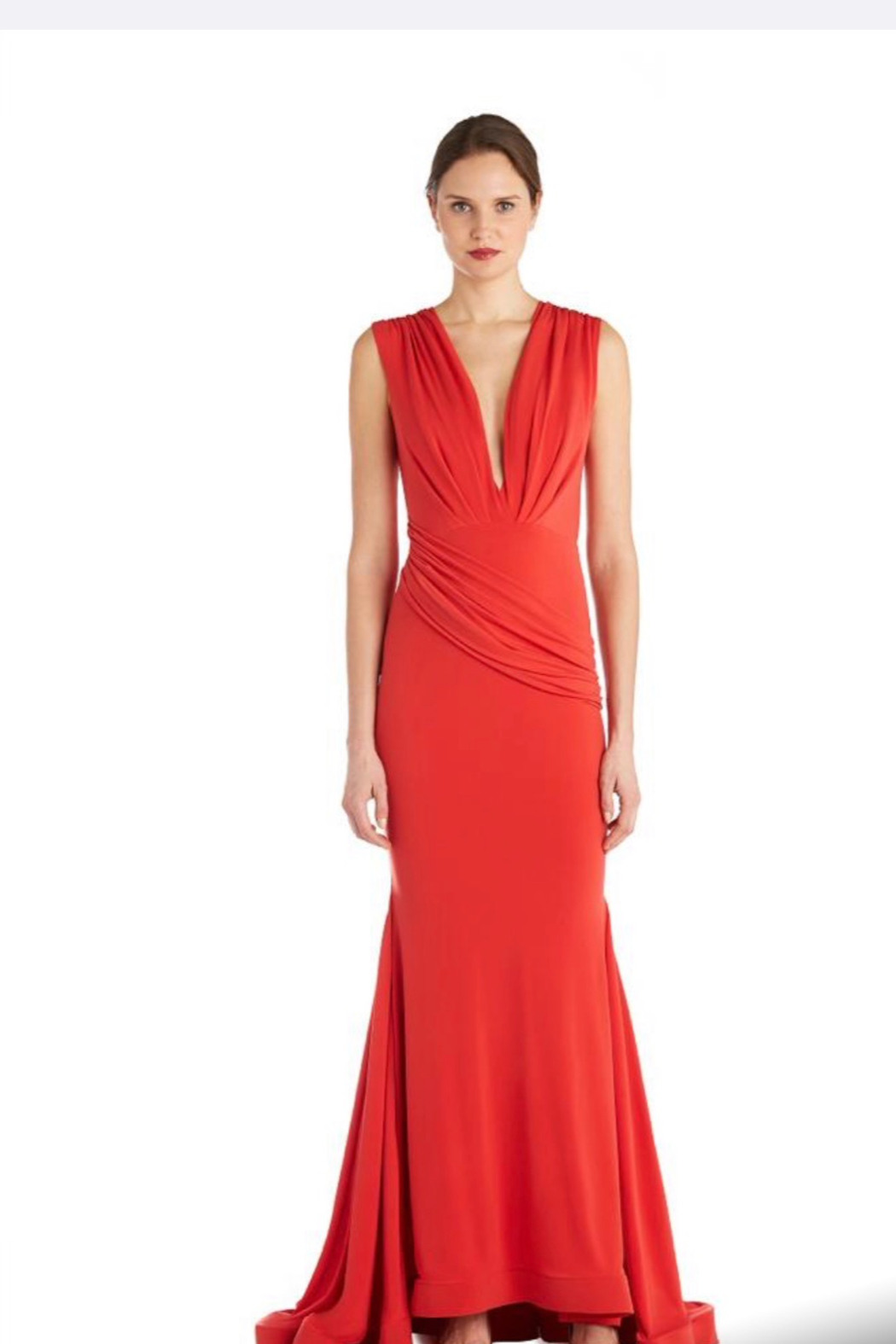 Regis Plunging Gown - Front Cropped Image