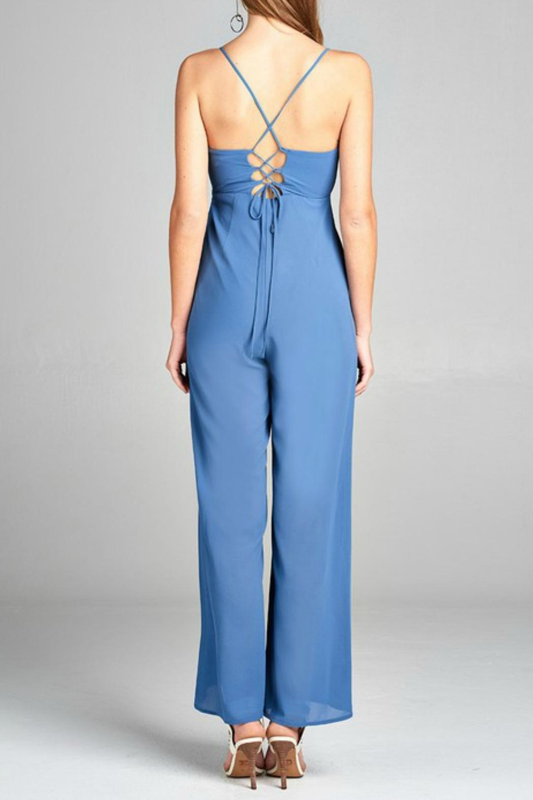 Active Basic Plunging Jumpsuit - Side Cropped Image