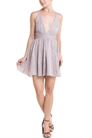 luxxel Plunging Neckline Dress - Product Mini Image