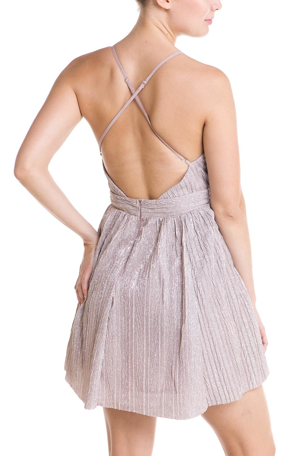 luxxel Plunging Neckline Dress - Side Cropped Image