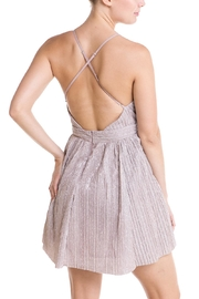 luxxel Plunging Neckline Dress - Side cropped