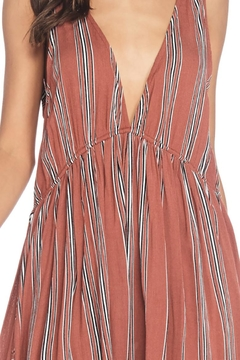 Anama Plunging Striped Dress - Alternate List Image