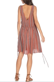 Anama Plunging Striped Dress - Front cropped