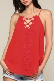 Blu Heaven Plunging Vneck Top - Product Mini Image