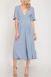 She + Sky Plunging Wide-Leg Jumpsuit - Product Mini Image