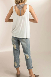 POL Plungng Twist Tank Top - Front full body