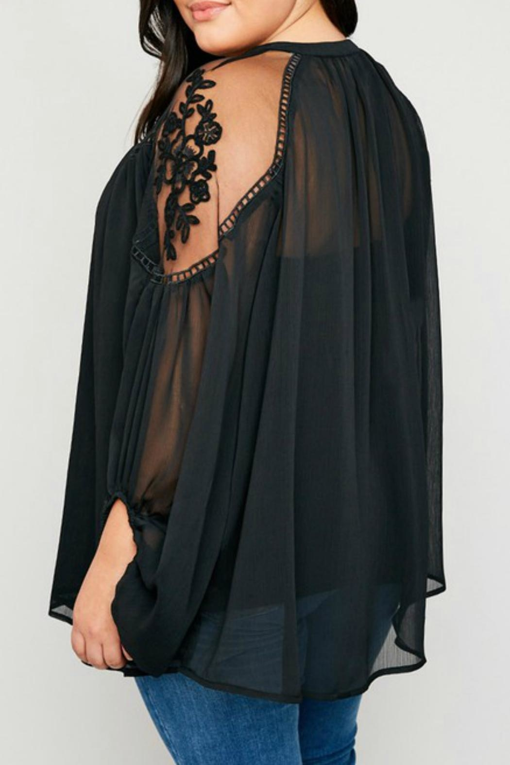 Hayden Los Angeles Plus Embroidery Tunic - Side Cropped Image