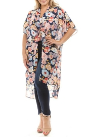 Spin USA Floral Kimono - Front cropped