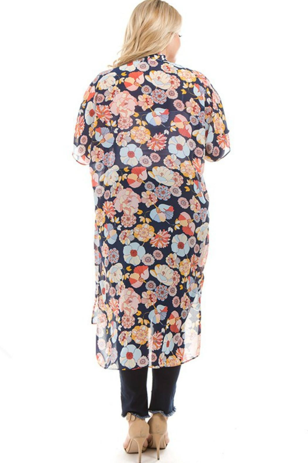 Spin USA Floral Kimono - Front Full Image