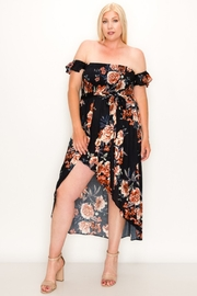 Blush BJ Plus Floral Smocked Off The Shoulder High-Low - Product Mini Image