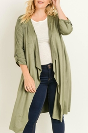 Gilli Plus Faux-Suede Duster - Product Mini Image