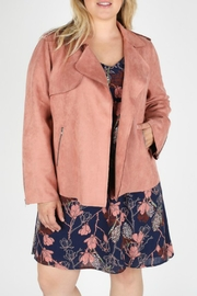 Skies Are Blue Plus Mauve Biker-Jacket - Product Mini Image