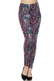 New Mix Plus Purple Legging - Product Mini Image