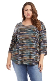 Karen Kane Plus Size 3/4 Sleeve Shirttail Top - Product Mini Image