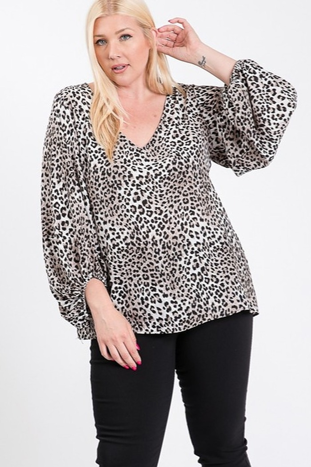 eesome Plus Size Animal Print Top - Main Image