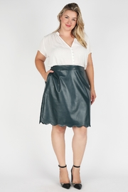 Skies Are Blue PLUS SIZE BELLS VEGAN LEATHER SKIRT - Product Mini Image