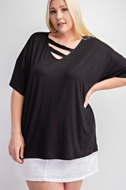 143 Story Plus Size Bias Bar Front Top - Product Mini Image