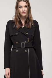 perch Plus Size Black Knit Trench Coat - Product Mini Image