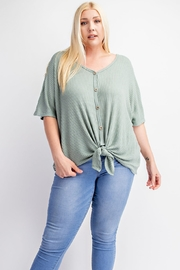 143 Story Plus Size Button Down Short Sleeve Shirt - Product Mini Image