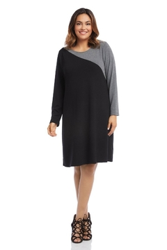 Karen Kane Plus Size Contrast Sweater Dress - Product List Image