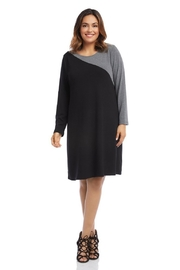 Karen Kane Plus Size Contrast Sweater Dress - Product Mini Image