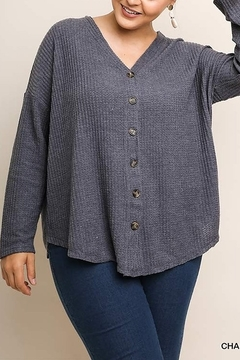 Shoptiques Product: PLUS SIZE Fleece Cardigan