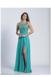 Dave and Johnny Stunning Jade Gown - Product Mini Image