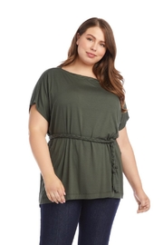 Karen Kane Plus Size Grecian Tunic, Olive - Side cropped