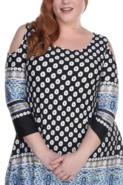 WhiteMark Plus Size Head to Toe Printed Set - Back cropped