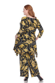 WhiteMark Plus Size Head to Toe Printed Set - Side cropped