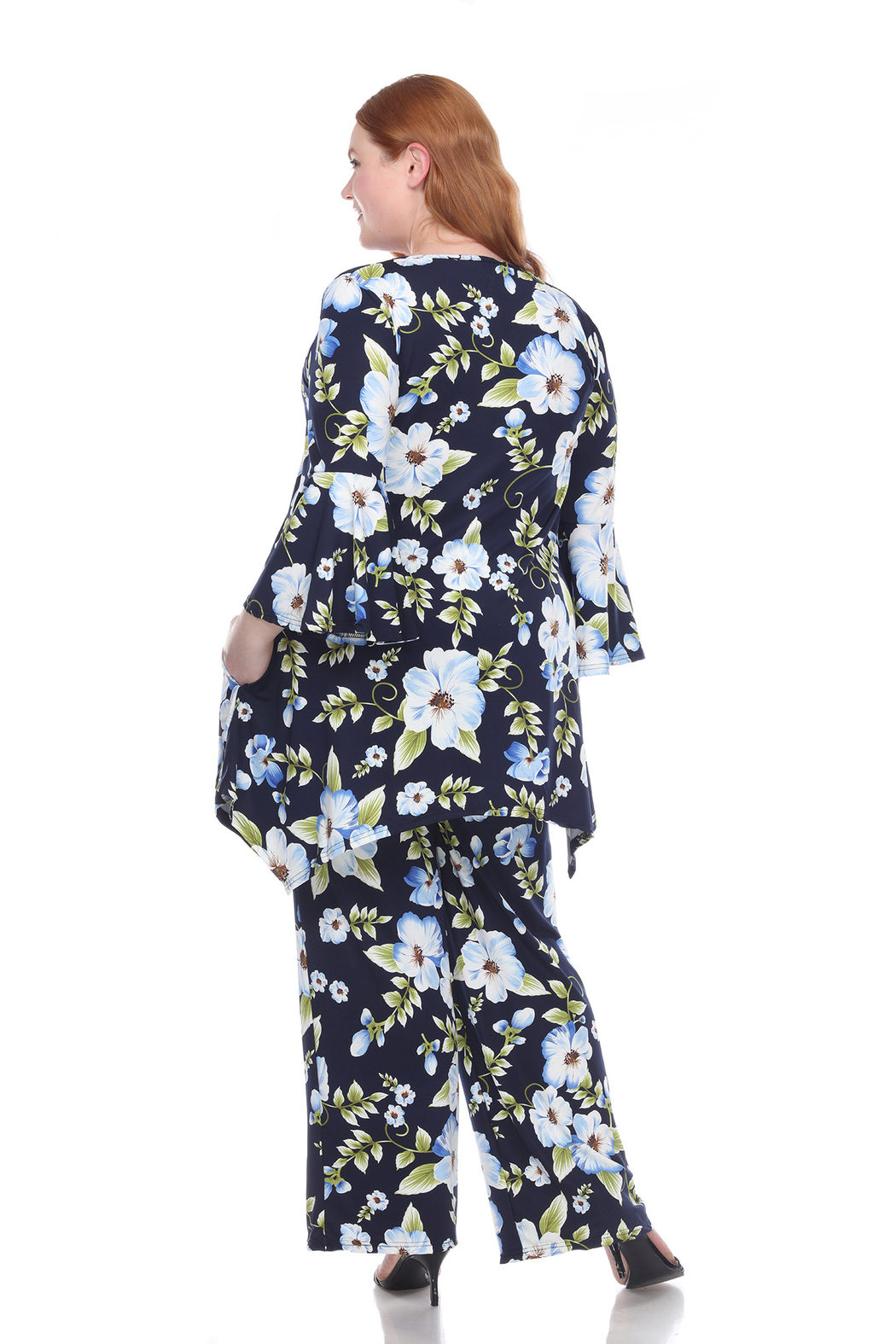 WhiteMark Plus Size Head to Toe Printed Set - Side Cropped Image