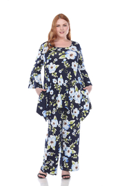 WhiteMark Plus Size Head to Toe Printed Set - Front cropped