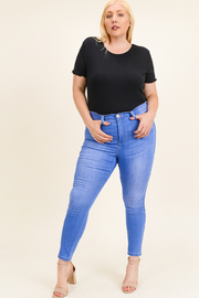 MONTREZ Plus size high rise skinny jeans - Front cropped