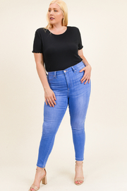 MONTREZ Plus size high rise skinny jeans - Front full body