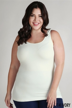 Shoptiques Product: Plus Size Jersey Tank Top