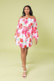 Flying Tomato Floral Printed Woven Dress - Product Mini Image