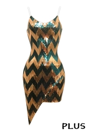 highlight Plus Size Sequince Sexy Dress - Product Mini Image