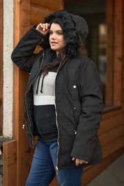 and. Collection Plus Size Vegan Fur Double-Sided Parka & Puffer Jacket - Product Mini Image